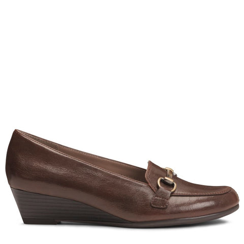 A2 by Aerosoles Women's Love Spell Medium/Wide Wedge Loafers (Brown) - 7.0 W