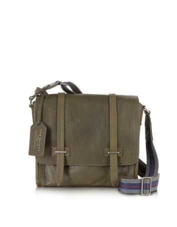 Ascott Olive Green Leather Messenger Bag