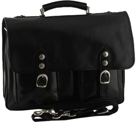 Alberto Bellucci Modena Leather Messenger Bag