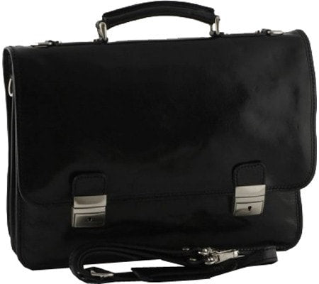 Alberto Bellucci Firenze Double Compartment Briefcase