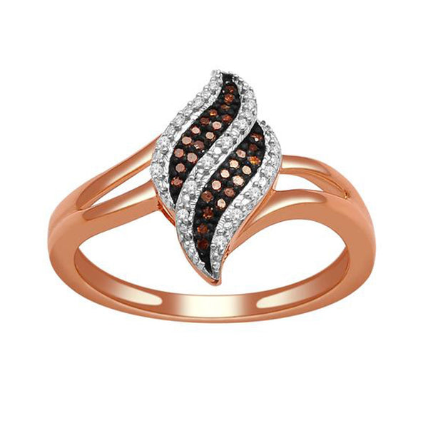 """1/10ct TDW Diamond Fashion Ring in 10K Rose Gold""-26622 - SprintShopping"