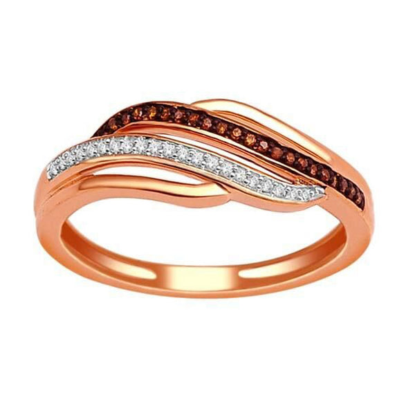 """1/10ct TDW Diamond Fashion Ring in 10K Rose Gold""-26619 - SprintShopping"