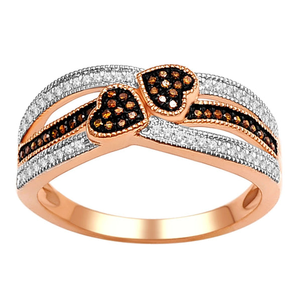 """1/5ct TDW Diamond Fashion Ring in 10K Rose Gold"" - SprintShopping"