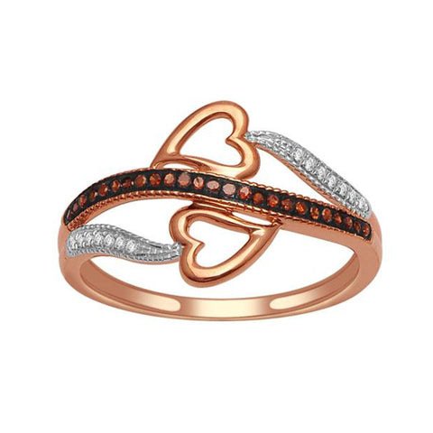 """1/10ct TDW Diamond Fashion Ring in 10K Rose Gold""-26621 - SprintShopping"