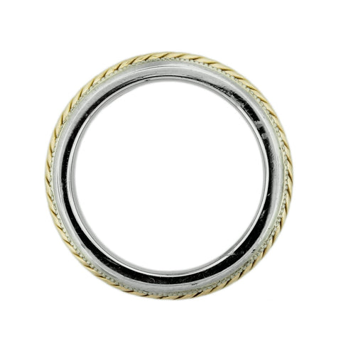 """14K Two Tone Gold Rope Design Mens Wedding Band"" - SprintShopping"