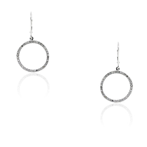 """10K White Gold & Diamond Earrings"" - SprintShopping"