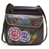 Anuschka Multi Pocket Travel Crossbody -Women's