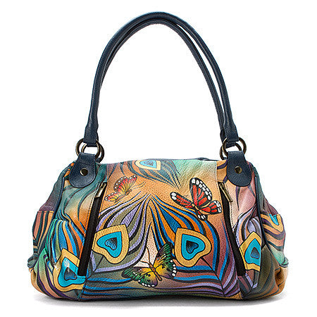 Anuschka Ruched Large Satchel -Women's