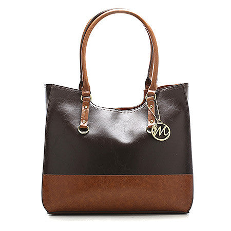 Emilie M Kimberley Two-Tone Scoop Tote -Women's
