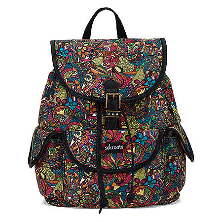 Sakroots Artist Circle Small Flap Backpack -Women's