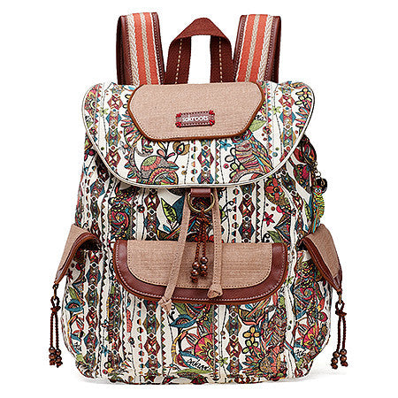 Sakroots Artist Circle Flap Backpack -Women's