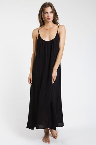 9 Seed Tulum Maxi Cover-Up in Black