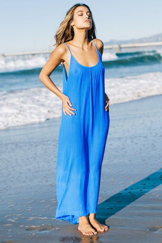 9 Seed Tulum Maxi Cover-Up in Flag Blue