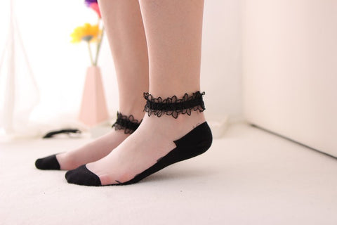 Transparent Women's Sock - TIKTOK FOR YOUR PAGE COCOLMALL
