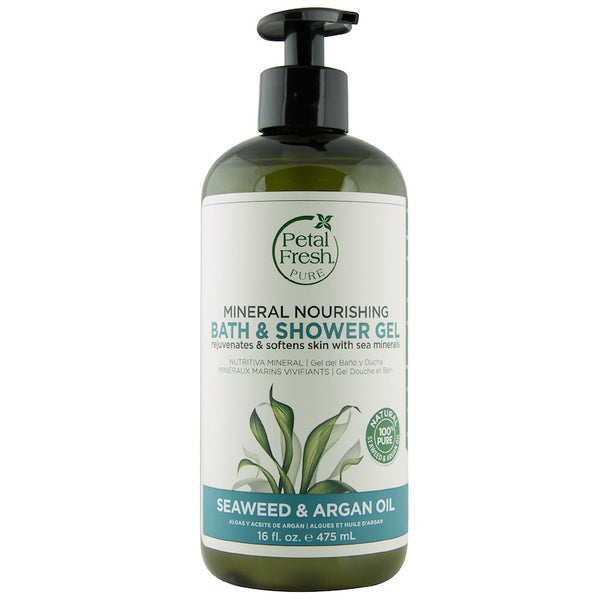Petal Fresh, Organic Nourishing Bath & Shower Gel, Seaweed & Argan Oil, 475ml - Koyara - Health Marketplace Malaysia