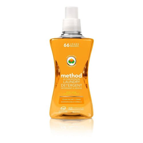 Method, 4x Concentrated Laundry Detergent - Ginger Mango 66 loads 1.58L - Koyara - Health Marketplace Malaysia