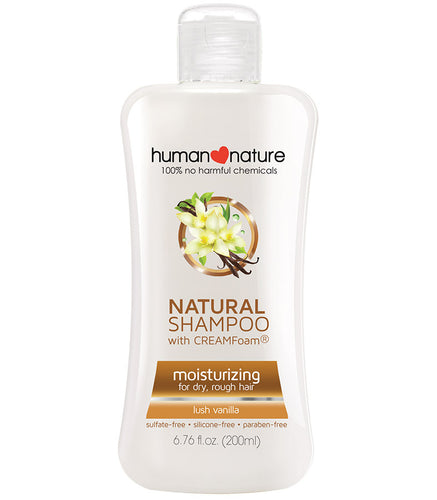 Human Nature Moisturizing Shampoo with Cream Foam - Lush Vanilla- Koyara