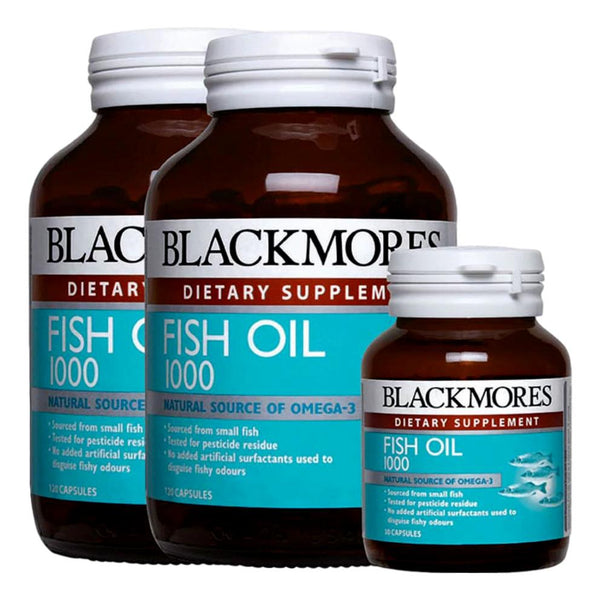 Blackmores, Fish Oil 1000mg (2x120'S + 30's)