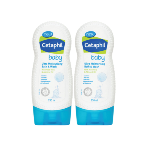 Cetaphil, Baby Moisturising Bath & Wash (230ml x 2) - Koyara - Health Marketplace Malaysia