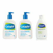 Cetaphil, Gentle Skin Cleanser (500ml x 2) + Moisturizing Lotion (200ml) - Koyara - Health Marketplace Malaysia