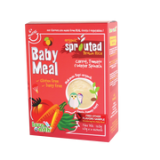 Love Earth, ORGANIC BABY MEAL CARROT, TOMATO & WATER SPINACH (6+3 Sachet 180G)