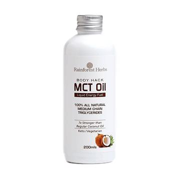 Rainforest Herbs Body Hack Coconut MCT Oil 200ml - Koyara - Health Marketplace Malaysia