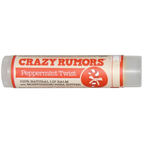 Crazy Rumors Peppermint Twist Natural Lip Balm with Moisturizing Shea Butter - Koyara - Health Marketplace Malaysia