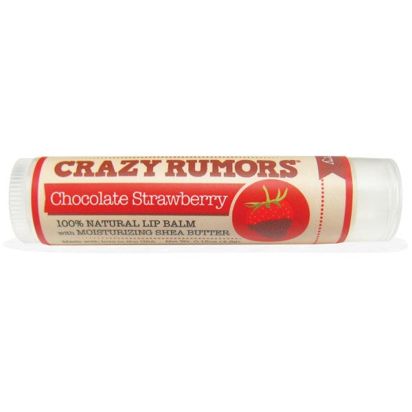 Crazy Rumors Natural Lip Balm with Moisturizing Shea Butter Chocolate Strawberry - Koyara - Health Marketplace Malaysia