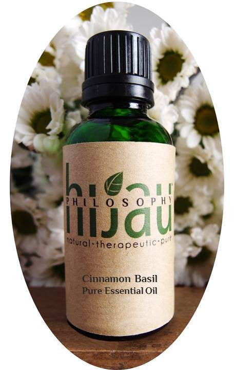 Hijau Philosophy Cinnamon Basil Pure Essential Oil - Koyara - Health Marketplace Malaysia