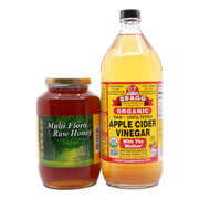 Bragg Organic Apple Cider Vinegar (946 ml) +  Meet Organic Multi Flora Raw Honey 1kg - Koyara - Health Marketplace Malaysia