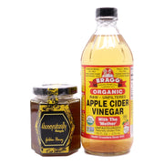 Bragg Organic Apple Cider Vinegar (473 ml) +  4HoneyNaturally Malaysia Farmed Bees Raw Golden Honey, 200g - Koyara - Health Marketplace Malaysia