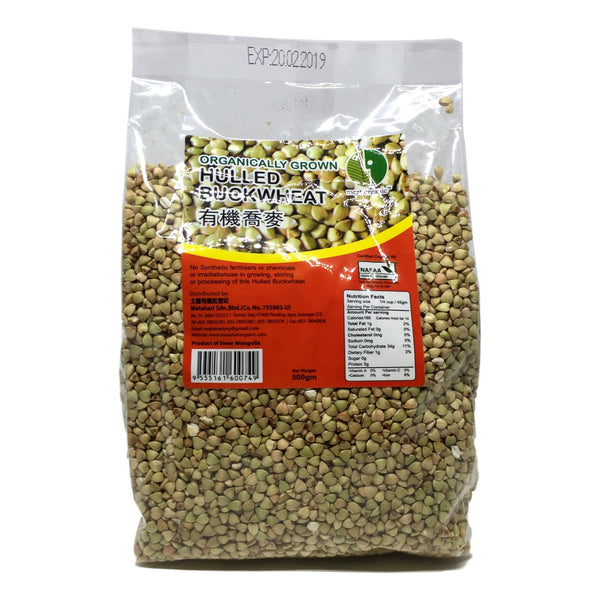 Organically Grown Hulled Buckwheat, 500g - Koyara - Health Marketplace Malaysia