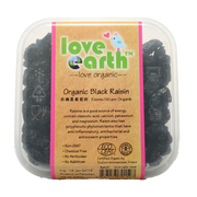 Love Earth, Organic Black Raisin 220g
