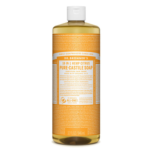 Dr Bronner's Pure-Castile Liquid Soap - Citrus Orange, 946ml- Koyara