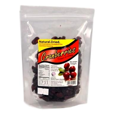 Natural Dried Cranberries (150g) - Koyara - Health Marketplace Malaysia