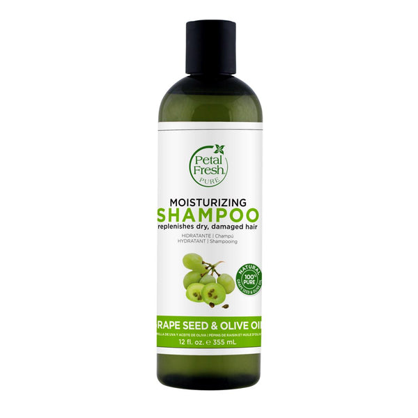 Petal Fresh, Moisturising Shampoo - Grape Seed & Olive Oil, 355ml - Koyara - Health Marketplace Malaysia
