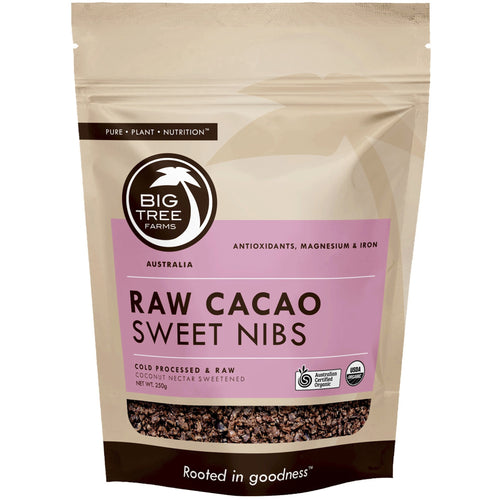 Big Tree Farms, Organic Raw Cacao Sweet Nibs (100 g)- Koyara