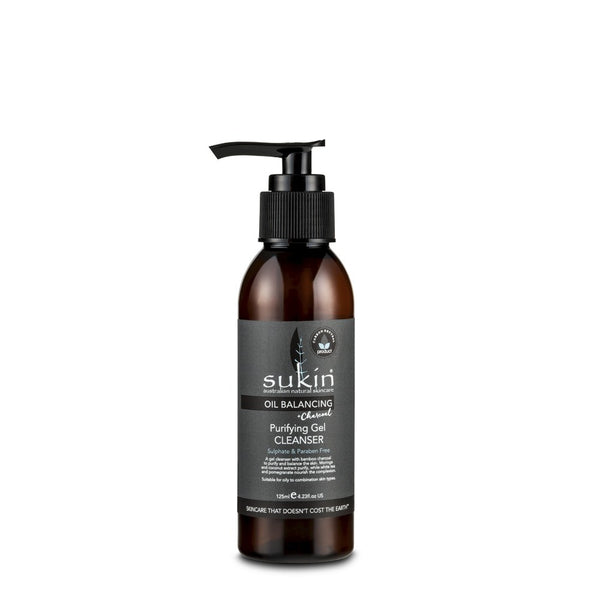 Sukin, Oil Balancing + Charcoal Purifying Gel Cleanser (125 ml) - Koyara - Health Marketplace Malaysia