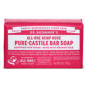 Dr Bronner's Pure-Castile Bar Soap - Rose