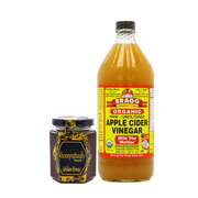 Bragg Organic Apple Cider Vinegar (946 ml) +  4HoneyNaturally Malaysia Farmed Bees Raw Golden Honey, 200g - Koyara - Health Marketplace Malaysia