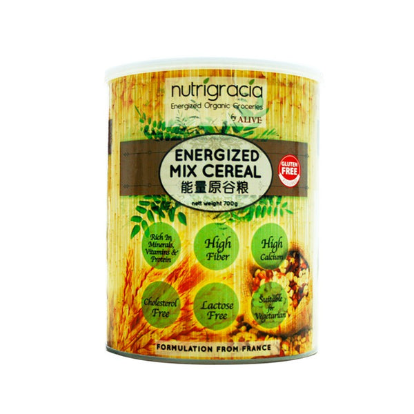Nutrigracia, Energized Mix Cereal ( can ) 700g (CLEARANCE) - Koyara - Health Marketplace Malaysia