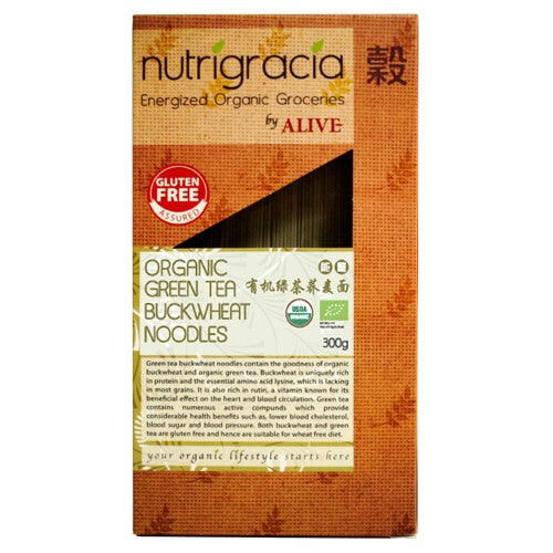 Nutrigracia, Organic Green Tea Buckwheat Noodles 300g (CLEARANCE) - Koyara - Health Marketplace Malaysia
