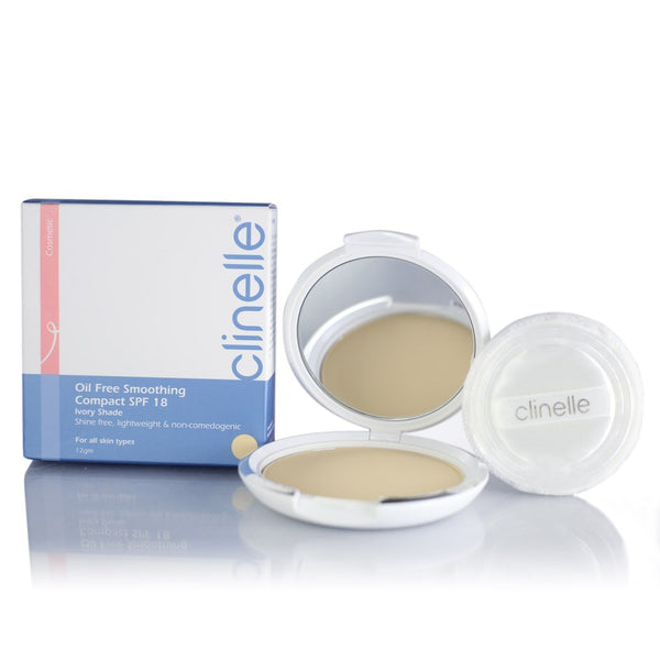 Clinelle, Oil Free Smoothing Compact SPF18-Ivory (12g)