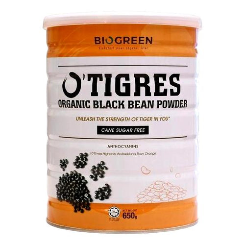 Biogreen O'Tigres Organic Sugar Free Black Bean Powder, 650g