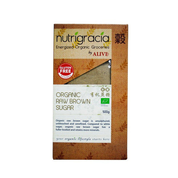 Nutrigracia, Organic Raw Brown Sugar 500g (CLEARANCE) - Koyara - Health Marketplace Malaysia