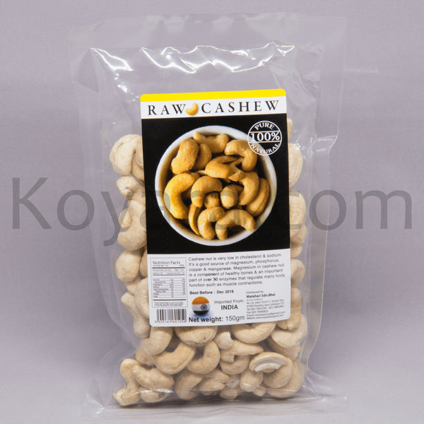 Natural Raw Cashew, 150g - Koyara - Health Marketplace Malaysia