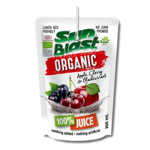 Sunblast, Organic 100% Apple-Cherry-Blackcurrant Juice (200ml) - Koyara - Health Marketplace Malaysia