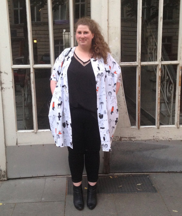 Plus Size Streetstyle Blog Comic Longjacket