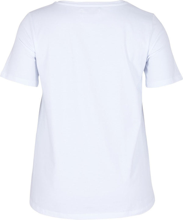 Basic T-Shirt Weiß Zizzi