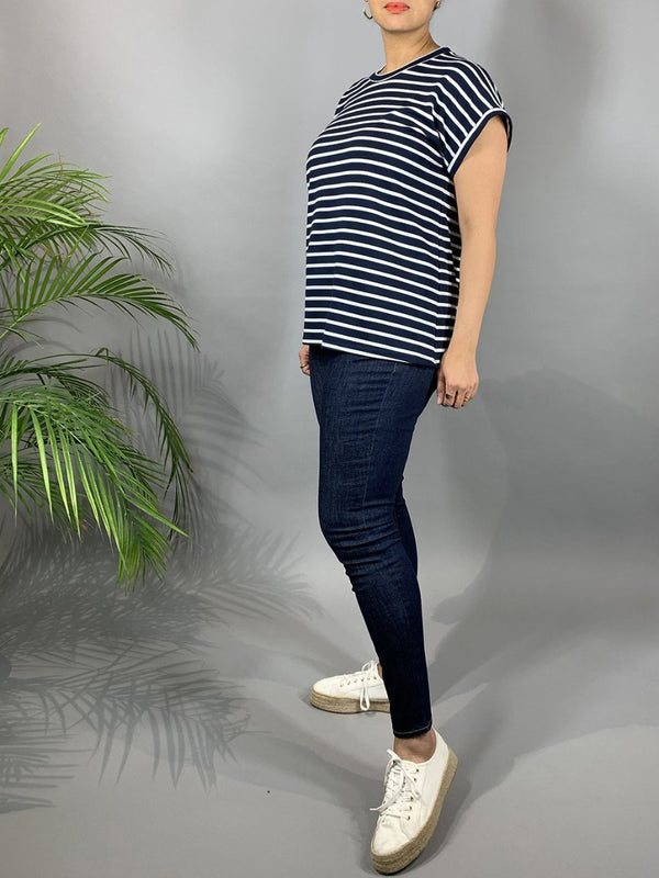 """Cool Tee"" - Blue Stripes Loved by Les Soeurs Shop"